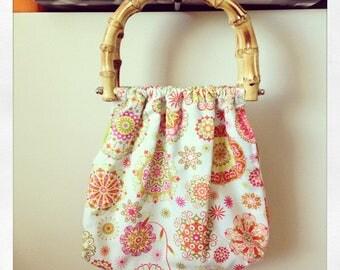 Summer Green Bamboo Handle Handbags Gift Set