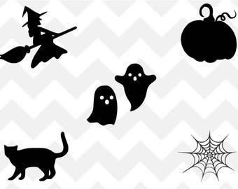 Halloween svg, Halloween bundle svg, witch svg, pumpkin svg, ghost svg, spider web svg, svg, png, cut file