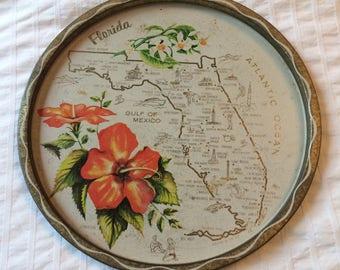 FLORIDA map  - Serving Tray