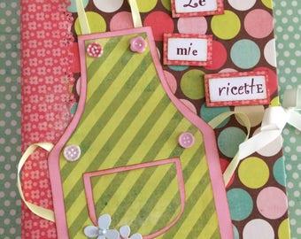 Recipe notebook 4 ring folder ricettario A5