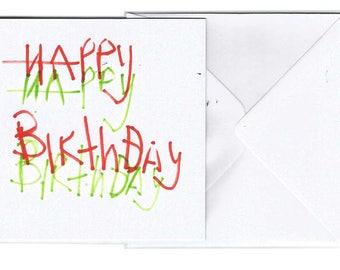 Happy Happy | Happy Birthday Card | Tea Cup Illustration