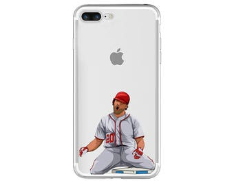 "Baseball Phone Case, The ""Home Plate Slide"" Baseball Phone Case, Baseball iPhone Case / Fits iPhone 5, iPhone 6, iPhone 6s, iPhone 7"
