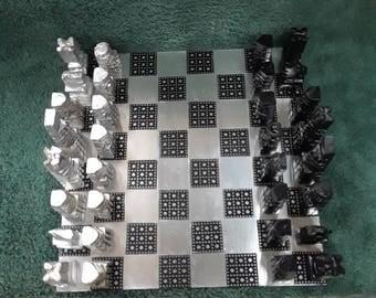 Chess set and board. Custom