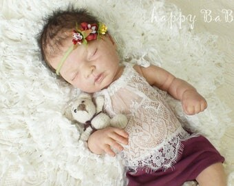 Newborn Photoprops, baby romper, Dungarees, newborn clothes, top body, baby photography, top, headband, baby prop, photo accessories