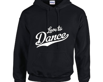 iLeisure Girls Love to Dance Hooded Top with White/Black Print