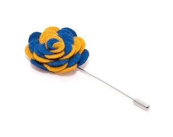 de MORÉ - blue & yellow corsage