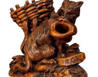 black forest carved begging dog - brienz ca. 1900