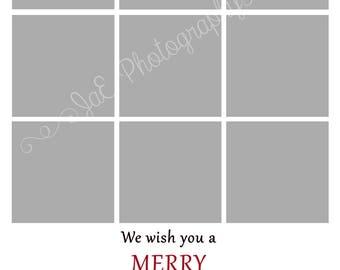 Christmas Card 9 Box Template for a 5x7 - The ORIGINAL BOX TEMPLATE