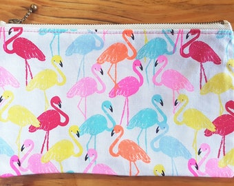 Zip Pouch - Flamingo