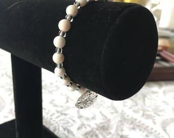 White Sand dollar Handmade Bracelet