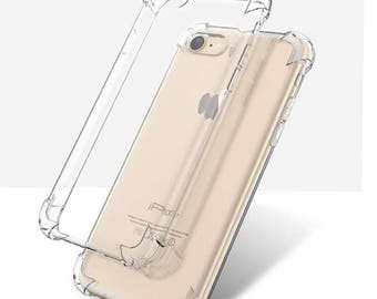 Transparent Anti Break Shock Proof Drop Resistant Case for iPhone 7 plus , iPhone 6s plus, iPhone 6 plus (5.5 inch screen only)