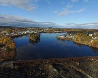 Aerial View of Great Falls - Auburn ME