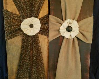 Fabric Cross Wall Decor
