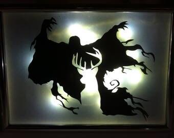 Harry Potter Patronus Stag and Dementor Light Frame