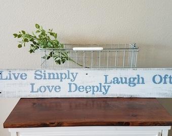 Live Laugh Love Rustic Sign