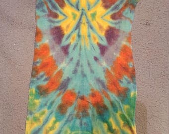 tie dye tank top womens large
