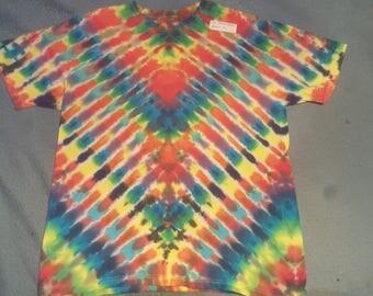 "tie dye t shirt adult medium""feathers"""
