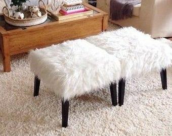 Dualing fur stools
