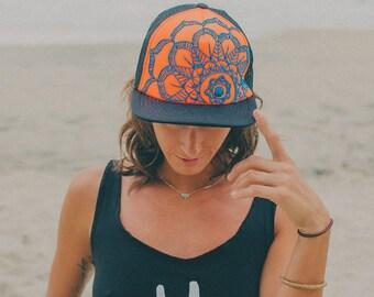 Mandala Embroidered Trucker Hats