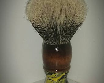Brushfire collection: Vintage shave brush restored with 24mm apshaveco luxury knot
