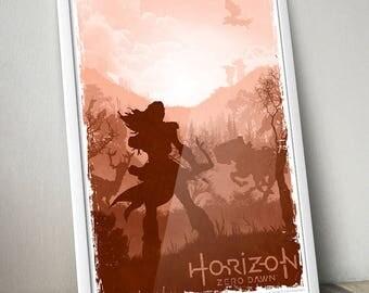 "Horizon Zero Dawn fan art poster 13x19"""
