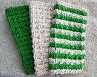Knitted Dishcloth Set