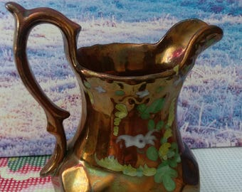 Copper milk jug, copper kitchen, copper, old jug, vintage jug,