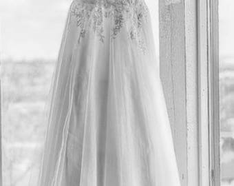 Pure White Lace Wedding Dress