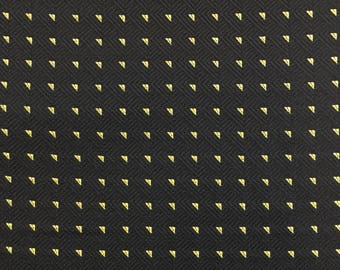 Black and Gold Dobby Weave Upholstery Fabric- Eastern Accents Fabric