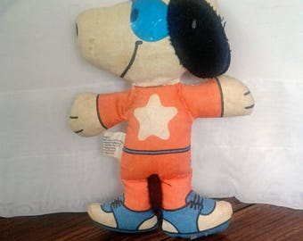 Vintage Snoopy Cloth Doll 5 Inches Tagged 1958