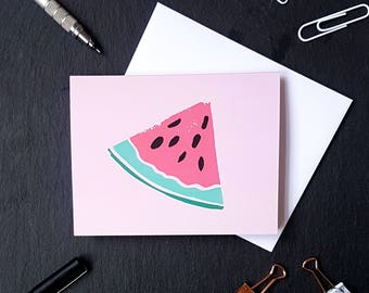 Watermelon Notecard