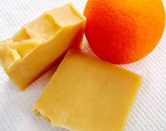 Orange and Turmeric Soap/ Gentle Exfoliating Soap