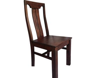 Brown wooden Chair - solid wooden Fast shipping and cheap