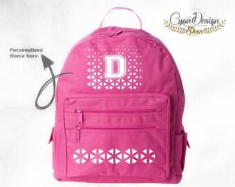 Personalized Bags, Name Initial Bag, Bags School, College, Students, Bag, School, Back to school, Pink bag, Custom pink bag