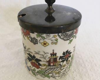 Vintage Sandland Handley Staffordshire England Jam Jar