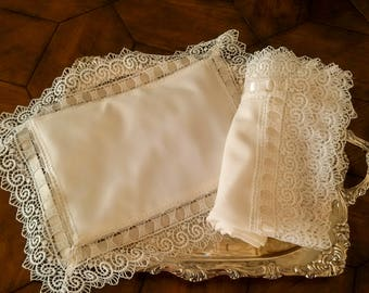 Gorgeous Lace Baby wrap and Pillow Set