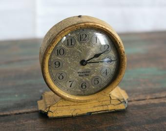 Westclox Tiny Tim Clock / Wind Up Alarm Clock / Vintage Clock