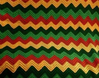 Wave Afghan