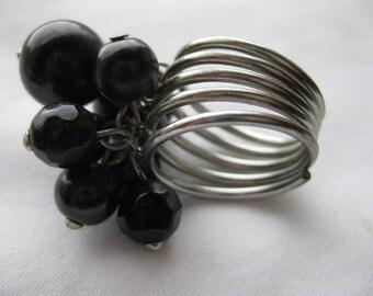 beaded tassel ring