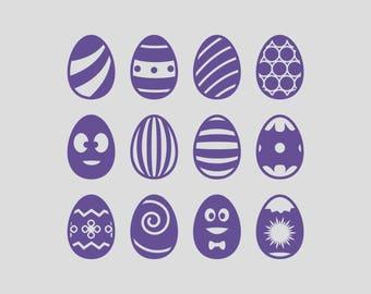 Easter Eggs Digital Paper for Crafts Making