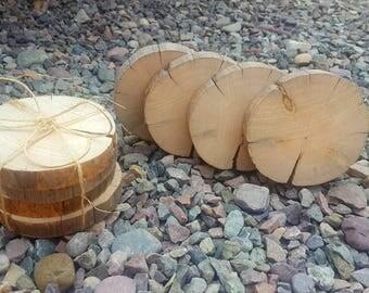 Wood Slab Coasters