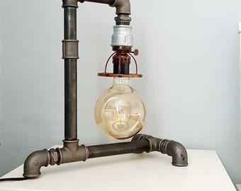 Steampunk pipe Lamp