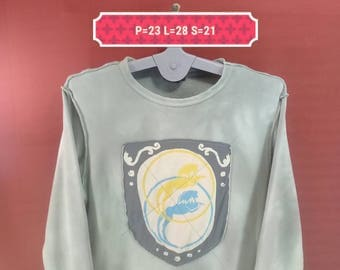 Vintage Diesel Sweatshirt Big Logo Sweater Beige Colour Size M Animation Sweatshirts Adidas Sweatshirts Playboy Sweatshirts