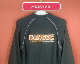 Vintage Kangol Sweatshirt Spellout Big Logo Back Shirt Black Colour Size M Nike Sweatshirts Supreme Sweatshirts Hip Hop Polo Sport
