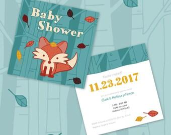 Fox Baby Shower Invite
