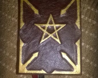 The Wizards Codex-Handmade Blank Grimoire/Journal/book of Shadows SALE PRICE