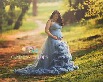 Cloud Maternity Dress for Photography Maternity Bridesmaid dress or Maternity Baby Shower Dress Maternity Ball gown Maternity Gown for photo