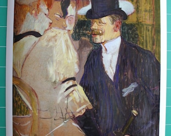 The Moulin Rouge Henri de Toulouse - Lautrec English man.