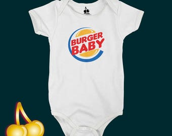 Burger Baby Bodysuit/Romper/One Piece/T-shirt