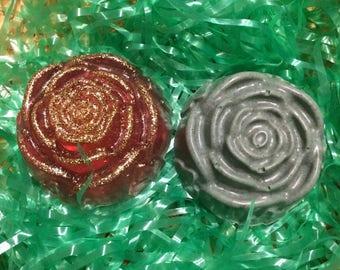 2 soap roses set
